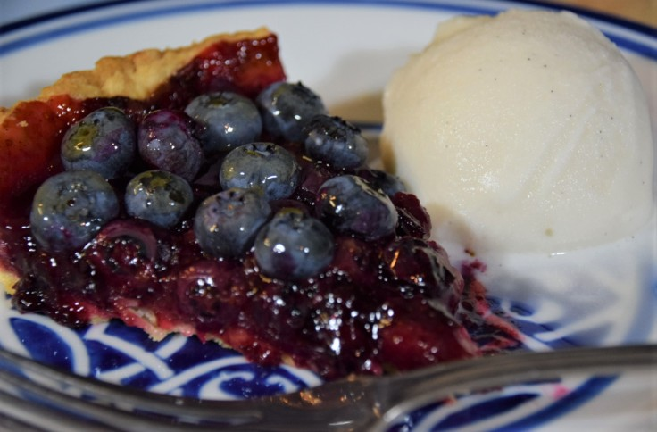 Stardew Valley Blueberry Tart one serving with ice cream